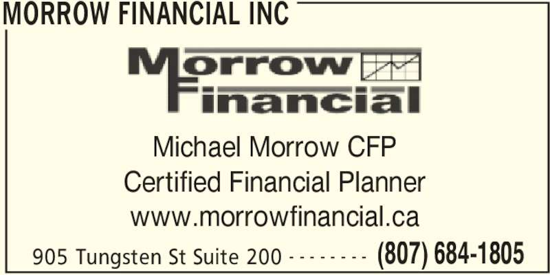 Morrow financial services thunder bay on 905 tungsten for 100 mural street richmond hill