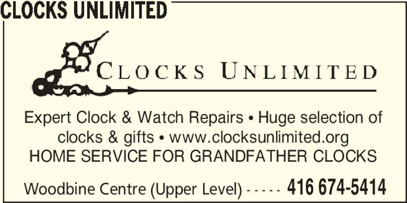Clocks Unlimited Opening Hours 500 Rexdale Blvd