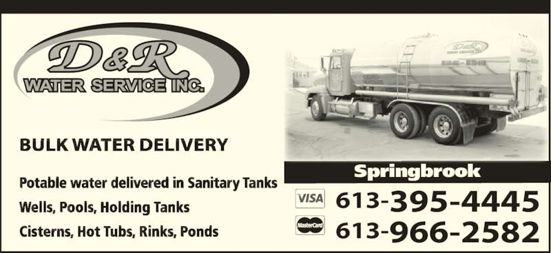 D R Water Service Inc Opening Hours 1880 Springbrook Rd Rr 1 Springbrook On