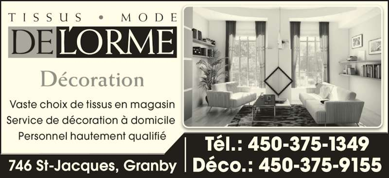 Tissus mode del 39 orme enr granby qc 746 rue saint for Altex decoration ltee