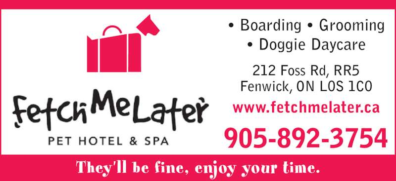 Fetch me later pet hotel spa fenwick on 212 foss rd for Pet hotels near me