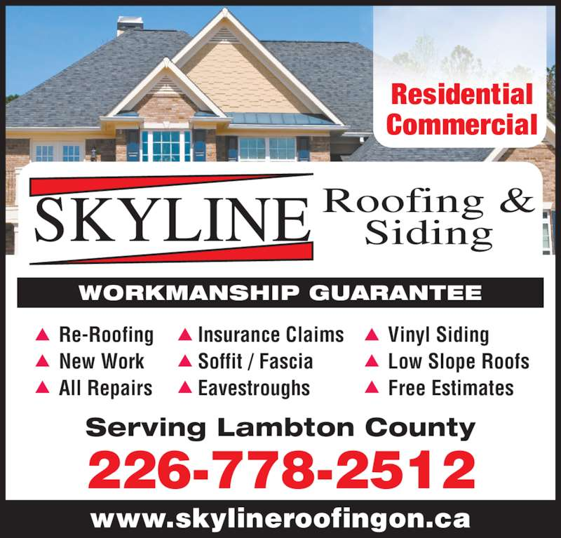 Skyline Roofing Siding Opening Hours 4184 Dufferin Ave Petrolia On