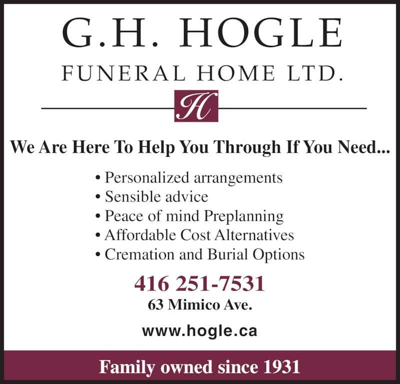 Hogle Funeral Home Etobicoke