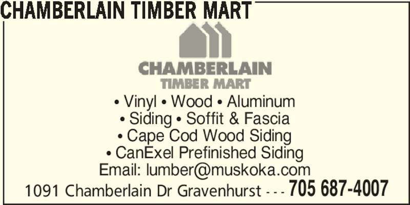 Chamberlain Timber Mart Gravenhurst On 1091