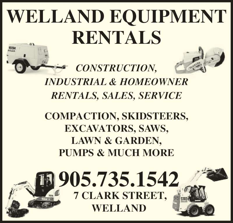 Apartment Rental Ads: Welland Equipment Rentals Ltd