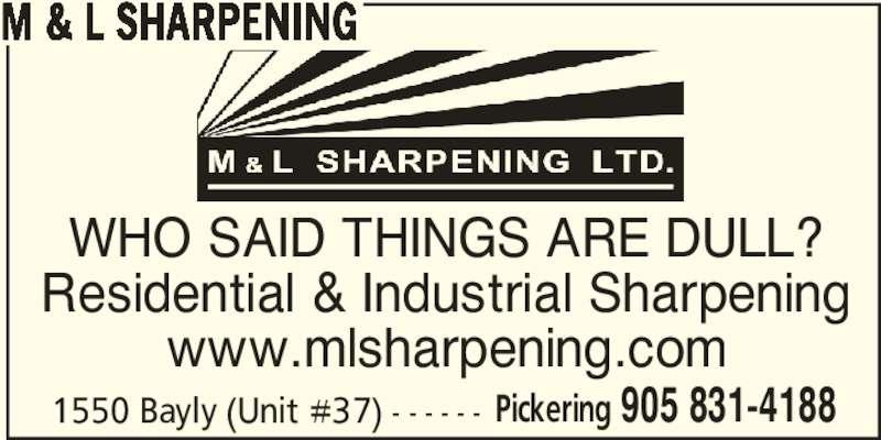 ad M&L Sharpening