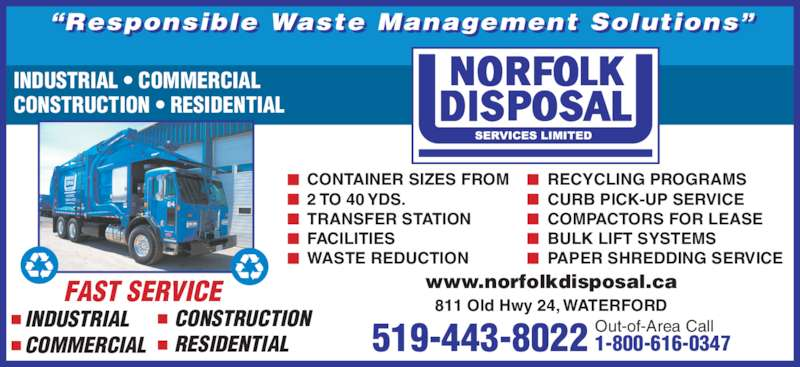 Norfolk Disposal Services Opening Hours 811 Old Hwy 24