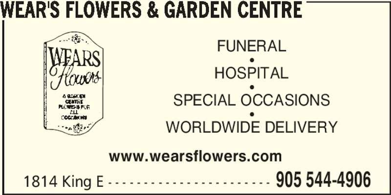 ad Wear's Flowers & Garden Centre