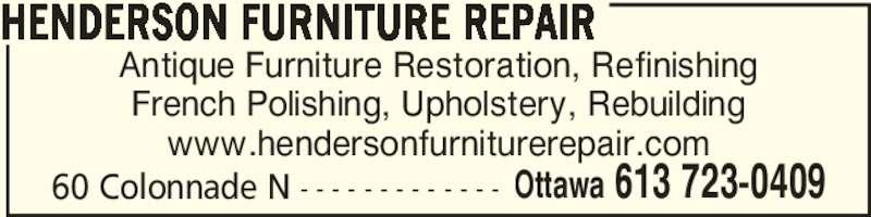 Henderson Furniture Repair