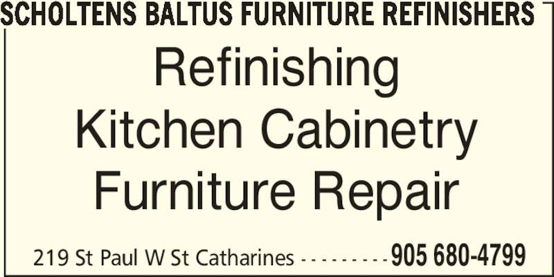 Scholtens Baltus Furniture Refinishers  219 St Paul St W St