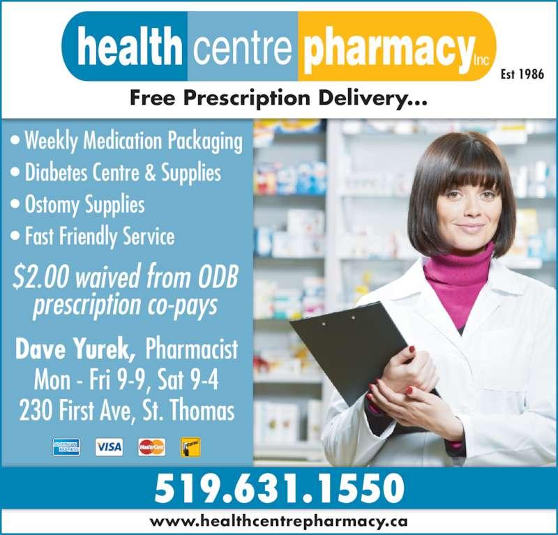 Health Centre Pharmacy Inc (519-631-1550) - Display Ad -