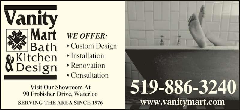 Vanity Mart Bath Amp Kitchen Design Opening Hours 1 90 Frobisher Dr Waterloo On
