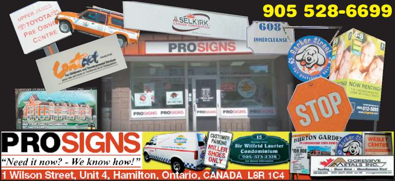 Prosigns Hamilton Inc (905-528-6699) - Display Ad - 905 528-6699