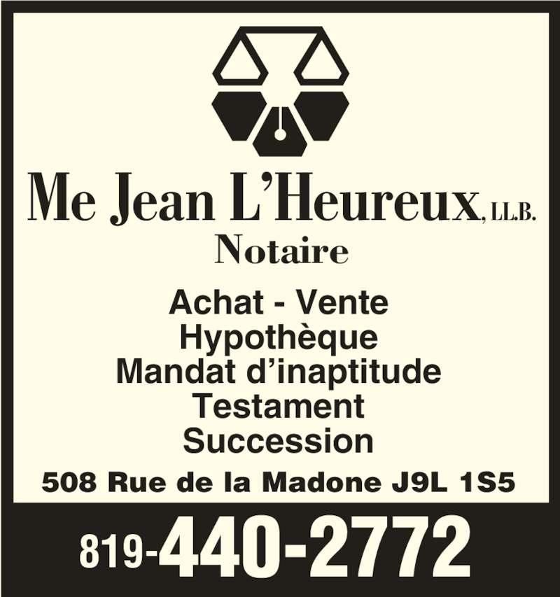 Jean l 39 heureux notaire horaire d 39 ouverture 508 rue de la madone - Achat maison hypothequee ...