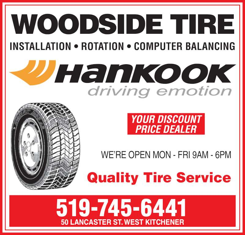Cooper Tire Ratings >> Woodside Tire - Opening Hours - 50 Lancaster St W, Kitchener, ON