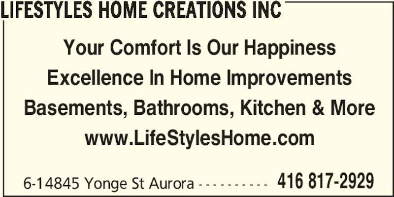 Lifestyles Home Creations Inc Aurora On 6 14845 Yonge