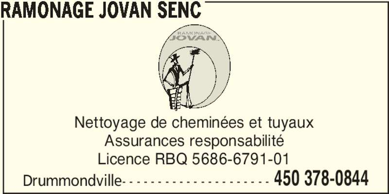 Ramonage jovan s e n c canpages fr for Loi sur le ramonage des cheminees