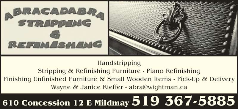 Abracadabra stripping refinishing mildmay on 610 for Abrakadabra salon