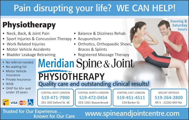 Meridian Spine Amp Joint Physiotherapy London On 201