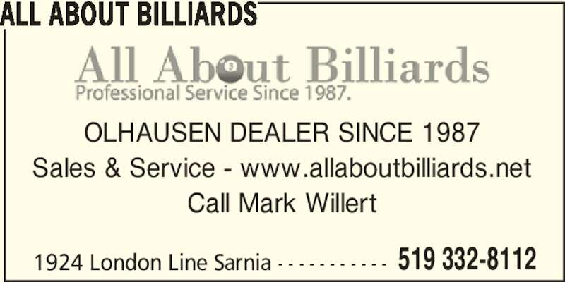 Ads All About Billiards