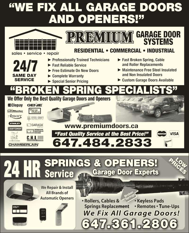 Prestige Garage Door Services Opening Hours On