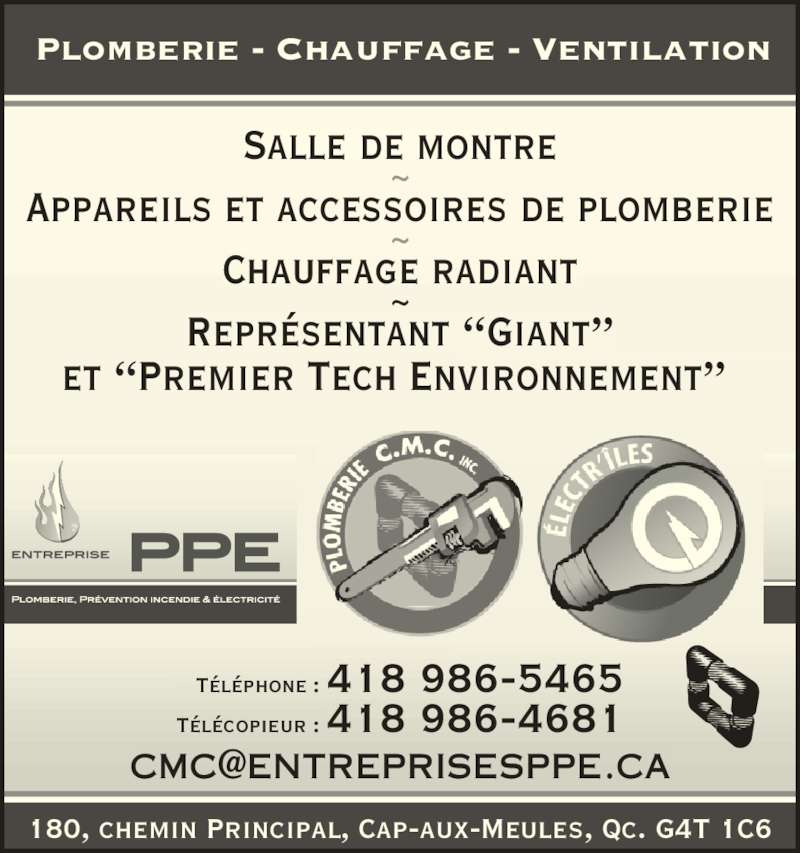 plomberie cmc inc cap aux meules qc 184 ch principal canpages fr. Black Bedroom Furniture Sets. Home Design Ideas