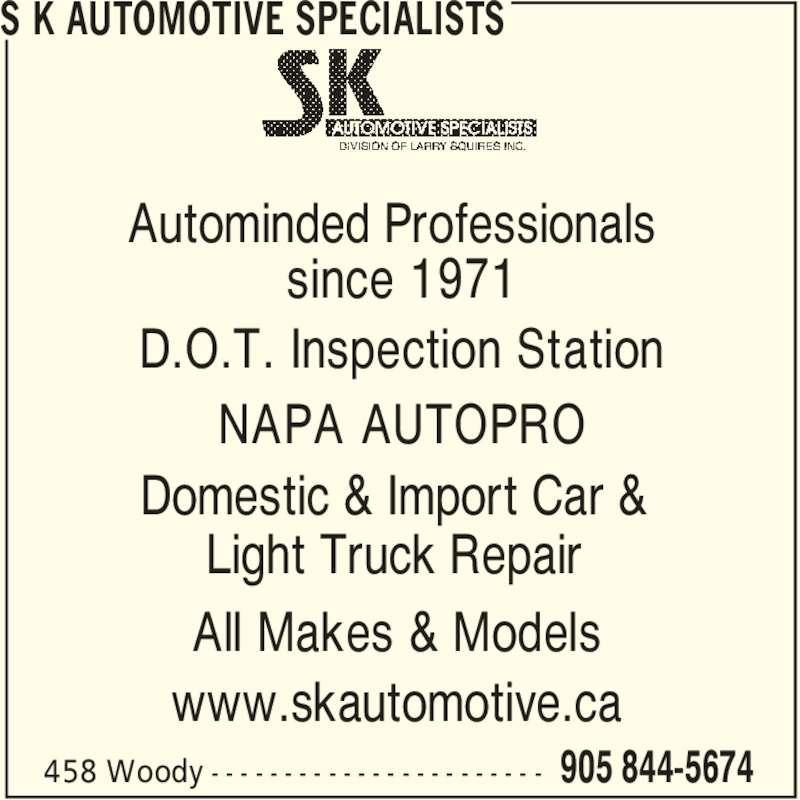 S K Automotive Specialists (9058445674) - Annonce illustrée======= -