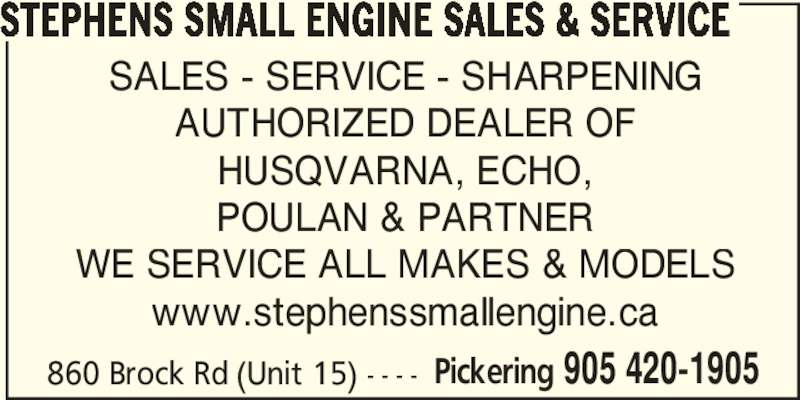 Ads Stephens Small Engine Sales & Service
