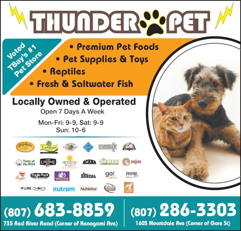 Tropical fish pet supplies thunder bay on 735 red for Fish and pet store