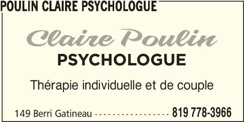poulin claire psychologue gatineau qc 149 rue berri canpages fr. Black Bedroom Furniture Sets. Home Design Ideas