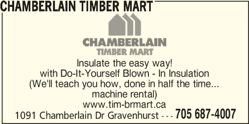 Chamberlain Timber Mart Opening Hours 1091 Chamberlain Dr Gravenhurst On