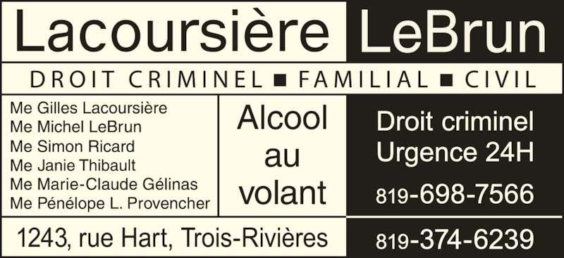 Lacoursière Lebrun (8193746239) - Annonce illustrée======= -