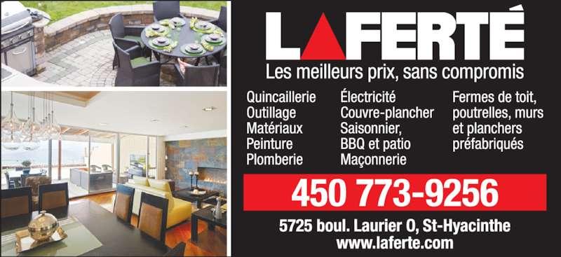 Centre De Rénovation Laferté (450-773-9256) - Annonce illustrée======= -
