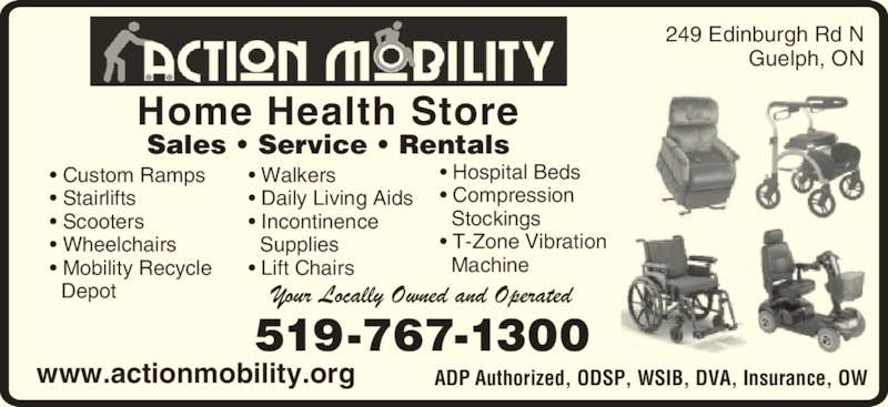 Action Mobility Guelph On 249 Edinburgh Rd N Canpages
