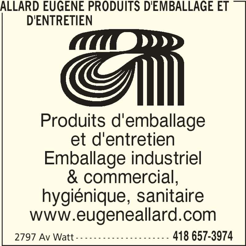 allard eug232ne produits demballage et dentretien qu233bec