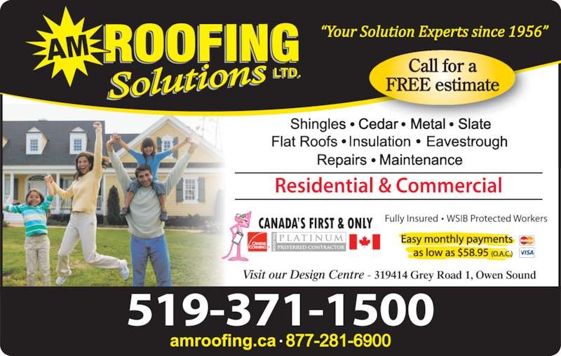 Am Roofing Solutions Kemble On 319414 Grey Road 1
