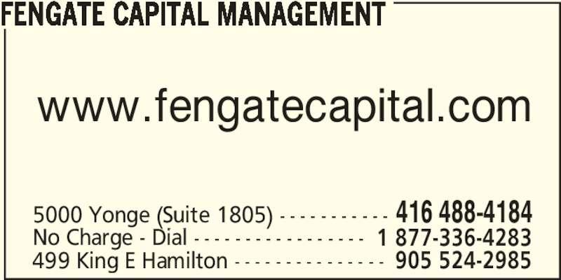 Ads Fengate Capital Management