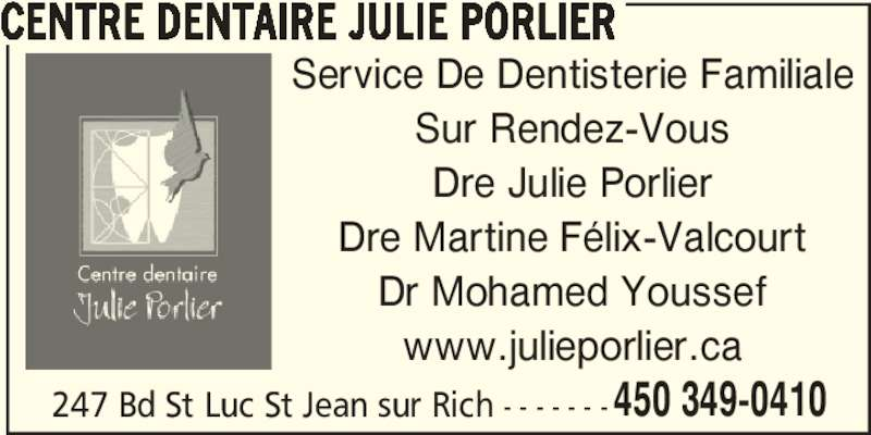 Centre dentaire julie porlier saint jean sur richelieu for Abces gencive traitement maison