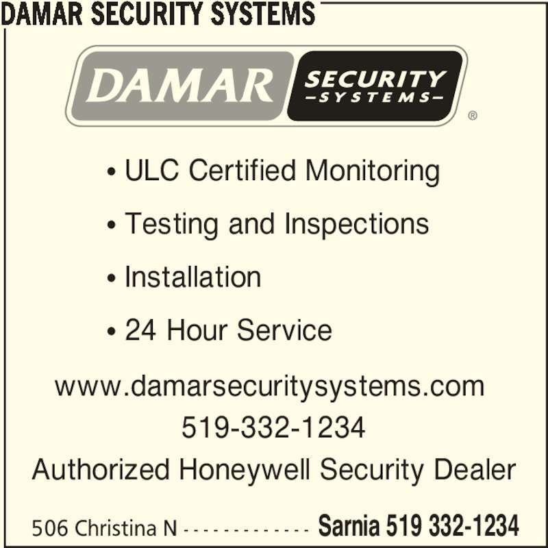 Damar security systems sarnia on 506 christina st n for 24 hour tanning salon near me