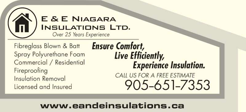E Amp E Niagara Insulations Ltd St Catharines On 347