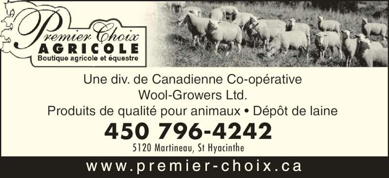 Premier Choix Agricole Inc (450-796-4242) - Annonce illustrée======= -