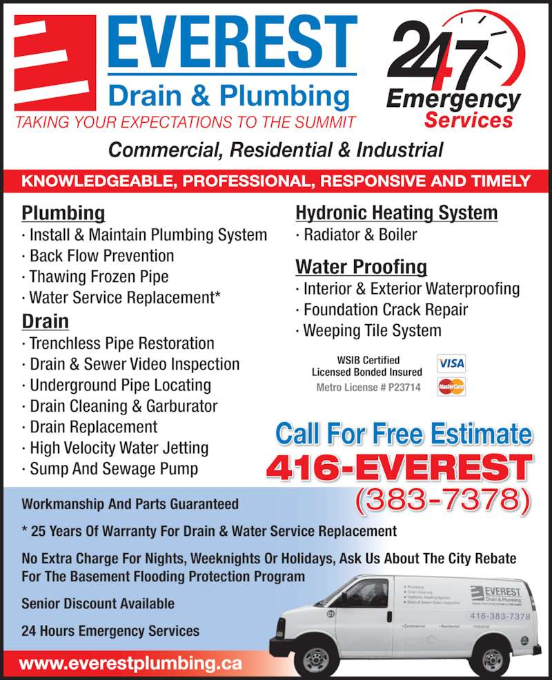 Everest Drain Amp Plumbing Opening Hours 31 Commercial