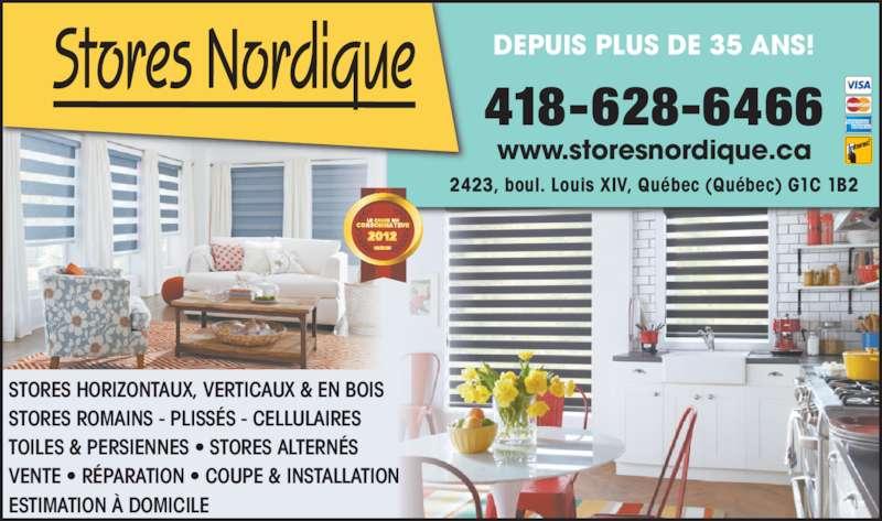 Stores Nordique (418-628-6466) - Annonce illustrée======= -
