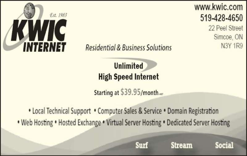 KWIC Internet (519-428-4650) - Display Ad -
