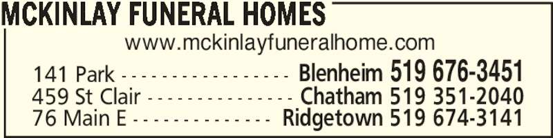 Ads McKinlay Funeral Home