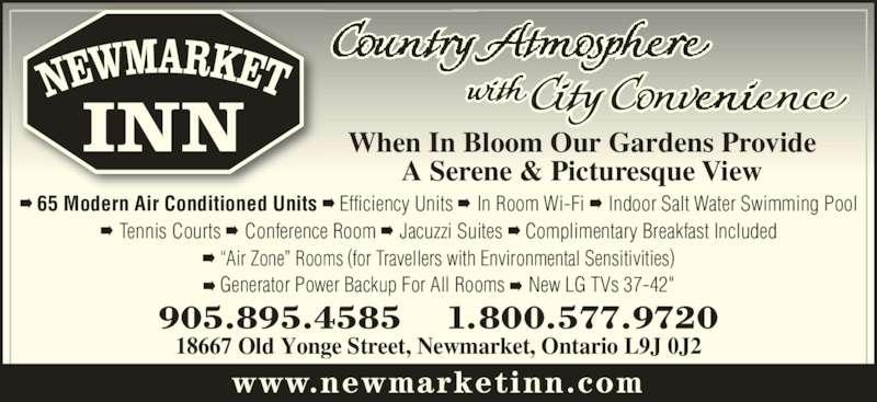 Newmarket Inn (905-895-4585) - Display Ad -
