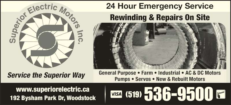 Superior Electric Motors Inc - Opening Hours