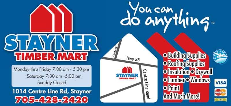 Tim Br Mart Stayner Stayner On 1014 Centre Line Rd