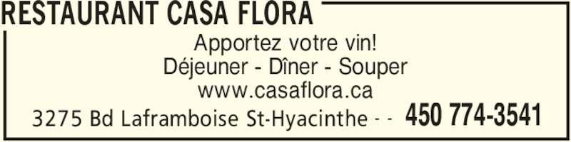 Restaurant Apportez Votre Vin  Ef Bf Bd Saint Hyacinthe