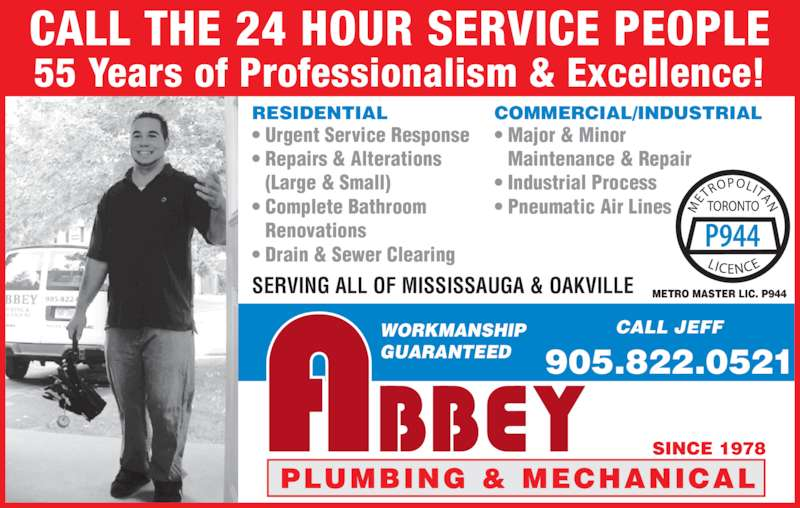 Abbey Plumbing Amp Mechanical Mississauga On 2639